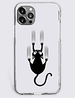cheap -black cat fashion case for apple iphone 12 iphone 11 iphone 12 pro max unique design protective case shockproof back cover tpu celebrity hot style