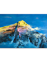 cheap -100% Hand Painted Contemporary Art Oil Paintings on Canvas Modern Stretched and Framed Abstract Mountain Artwork Ready to Hang