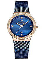 cheap -brand watch women fashion casual waterproof quartz ladies dress watches mesh belt wrist watches (blue)