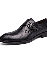 cheap -Men's Oxfords Business Casual British Daily Office & Career Walking Shoes PU Breathable Non-slipping Wear Proof Black Brown Spring Fall