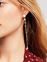cheap -Women's Drop Earrings Hoop Earrings Earrings Chandelier Holiday Fashion Star Stylish Simple Rock Cool Hip Hop Earrings Jewelry Gold For Street Gift Date Beach Festival 1 Pair / Mismatch Earrings
