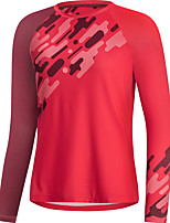 cheap -Women's Long Sleeve Downhill Jersey Red Bike Top Mountain Bike MTB Road Bike Cycling Breathable Quick Dry Sports Clothing Apparel / Stretchy / Athleisure