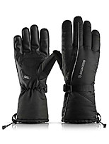 cheap -Winter Gloves for Men, Snowboarding Ski Gloves Women - Windproof Waterproof Skiing Snowmobile - 3M Thinsulate - Touch Screen - Thermal Warm Glove Liners Cold Weather Snow Gloves - Black -XL