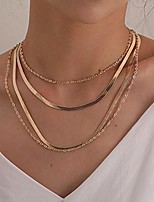 cheap -bohemian dainty layered choker necklaces multilayer adjustable layering chain gold snake shape necklaces set for women girls (silver)