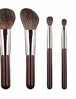 cheap -Makeup Brush Set 5 Mini Portable Travel Blush Highlight Powder Eye Shadow Full Set for Beginners (Color : Brown)