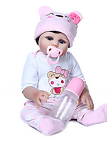 cheap -NPKCOLLECTION 20 inch Reborn Doll Baby Girl Newborn Cute Artificial Implantation Blue Eyes Full Body Silicone Silicone Silica Gel with Clothes and Accessories for Girls' Birthday and Festival Gifts