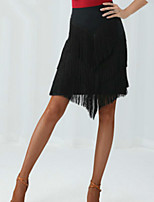 cheap -Latin Dance Skirts Tassel Solid Women's Training Performance Sleeveless Natural Milk Fiber