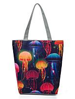 cheap -Women's Bags Canvas Top Handle Bag Zipper Galaxy Star Print 2021 Daily Date Blue Red Blushing Pink