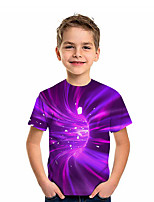 cheap -Kids Boys' Active Graphic 3D Print Short Sleeve Tee Purple