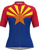 cheap -Women's Short Sleeve Cycling Jersey Dark Blue Bike Top Mountain Bike MTB Road Bike Cycling Breathable Quick Dry Sports Clothing Apparel / Stretchy / Athleisure