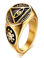 cheap -stainless steel triangle eye of providence illuminati all seeing eye rings for men,gold 10