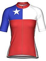 cheap -21Grams Women's Short Sleeve Cycling Jersey Red Stars Bike Top Mountain Bike MTB Road Bike Cycling Breathable Quick Dry Sports Clothing Apparel / Stretchy / Athleisure