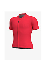 cheap -Men's Short Sleeve Downhill Jersey White Red Bike Jersey Sports Clothing Apparel
