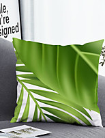 cheap -1 pcs Polyester Pillow Cover & Insert, Leaf Simple Classic Square Zipper Polyester Traditional Classic