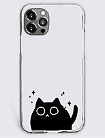 cheap -black cat fashion case for apple iphone 12 iphone 11 iphone 12 pro max unique design protective case shockproof back cover tpu