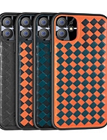 cheap -Weaved Case For Apple iPhone 11 SE 2020 XR 11 Pro Max Xs Max PU Leather Case Shockproof Back Cover Tile / Lines / Waves Phone Case