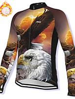 cheap -21Grams Men's Long Sleeve Cycling Jacket Winter Fleece Spandex Coffee Bird Bike Jacket Mountain Bike MTB Road Bike Cycling Fleece Lining Warm Sports Clothing Apparel / Stretchy / Athleisure