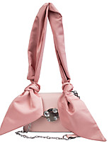 cheap -Women's Bags PU Leather Top Handle Bag Hobo Bag Sashes / Ribbons Embellished&Embroidered Plain Daily Date 2021 Handbags Black Blushing Pink Gray
