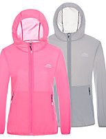 cheap -Men's Hoodie Jacket Hiking Skin Jacket Skin Coat Long Sleeve Sweatshirt Top Outdoor Lightweight Breathable Quick Dry Sweat-wicking Summer Solid Color Female white Female rose red Male light green