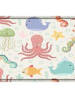 cheap -Seafood Print Memory Foam Bath Mat Non Slip Absorbent Bathroom Mat Super Soft Microfiber Bath Mat Set Super Cozy Velvety Bathroom Rug Carpet