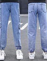 cheap -Kids Girls' Jeans Blue Letter Print Basic Blue
