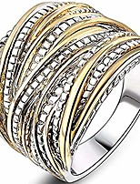 cheap -Retro Vintage Style Braided Waved Wrap Style Statement Cocktail Party Ring (Gold, 10)