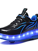 cheap -Boys' Girls' Trainers Athletic Shoes Comfort LED Shoes USB Charging PU Little Kids(4-7ys) Big Kids(7years +) Daily Walking Shoes Black Blue Pink Spring Fall