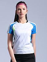 cheap -Women's Tennis Badminton Table Tennis Tee Tshirt Short Sleeve Breathable Quick Dry Moisture Wicking Sports Outdoor Autumn / Fall Spring Summer Blue Pink Green / High Elasticity