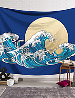 cheap -Kanagawa Wave Ukiyo-E Wall Tapestry Art Decor Blanket Curtain Hanging Home Bedroom Living Room Decoration Japanese Painting Style Sea Ocean Wave Moon