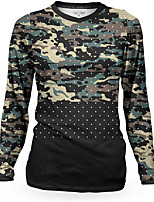cheap -Women's Long Sleeve Cycling Jersey Winter Camouflage Camo / Camouflage Bike Top Mountain Bike MTB Road Bike Cycling Breathable Quick Dry Sports Clothing Apparel / Stretchy / Athleisure