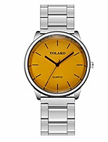 cheap -Koolsants Ladies Simple Girl Stainless Steel Band with Simple Mirror Quartz Watch Analog Watches Ornaments