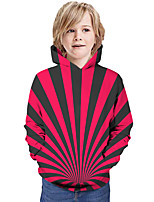 cheap -Kids Boys' Hoodie & Sweatshirt Graphic 3D Print Long Sleeve Active Fuchsia