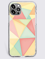cheap -Geometric Pattern Case For Apple iPhone 12 iPhone 11 iPhone 12 Pro Max Unique Design Protective Case Shockproof Back Cover TPU