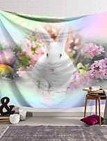 cheap -Happy Easter Wall Tapestry Art Decor Blanket Curtain Hanging Home Bedroom Living Room Decoration Polyester Rabbit Bunny Flower Egg