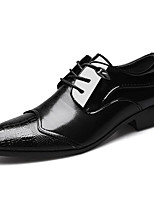 cheap -Men's Oxfords Business Casual British Wedding Office & Career Walking Shoes PU Breathable Non-slipping Height-increasing Black Brown Spring Fall