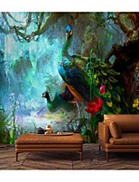 cheap -Peacock Wallpaper Self-Adhesive Removable Peel and Stick Wallpaper Decorative Wall Covering for Wall Surface Cover Easy to Apply