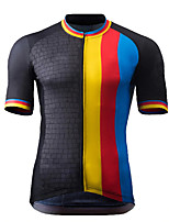 cheap -Men's Short Sleeve Cycling Jersey Black Stripes Bike Top Mountain Bike MTB Road Bike Cycling Breathable Sports Clothing Apparel / Stretchy / Athletic