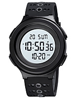 cheap -SKMEI Men's Sport Watch Digital Stylish Calendar / date / day Chronograph Alarm Clock Digital Black Black / White / One Year / Silicone / Dual Time Zones