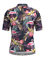 cheap -Men's Short Sleeve Cycling Jersey Purple Floral Botanical Bike Top Mountain Bike MTB Road Bike Cycling Breathable Sports Clothing Apparel / Stretchy / Athletic