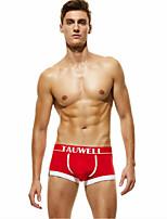 cheap -Men's 1 Piece Basic Boxers Underwear / Briefs Underwear - Normal Mid Waist Red Green Navy Blue M L XL