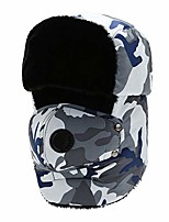 cheap -Warm Trapper Hat, Winter Camo Hunting Ushanka Hat with Ear Flaps And Removable Windproof Face Mask,D