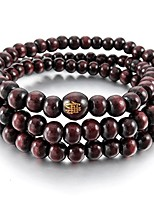 cheap -Men,Women's 6mm Wood Bracelet Link Wrist Necklace Tibetan Buddhist Red Sandalwood Bead Prayer Buddha Mala