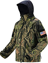 cheap -Men's Hoodie Jacket Hiking Softshell Jacket Hiking Windbreaker Outdoor Waterproof Lightweight Windproof Breathable Jacket Top Fishing Climbing Camping / Hiking / Caving CP camouflage ACU camouflage