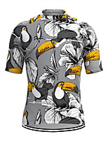 cheap -Men's Short Sleeve Cycling Jersey Grey Bird Bike Top Mountain Bike MTB Road Bike Cycling Breathable Sports Clothing Apparel / Stretchy / Athletic