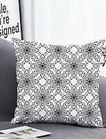 cheap -1 pcs Polyester Pillow Cover & Insert, Floral Simple Classic Square Zipper Polyester Traditional Classic