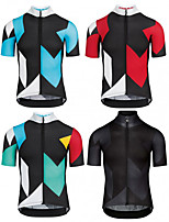 cheap -Men's Short Sleeve Cycling Jersey Black Yellow Red Bike Top Mountain Bike MTB Road Bike Cycling Breathable Sports Clothing Apparel / Stretchy / Athletic