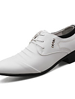cheap -Men's Oxfords Business Casual Daily Office & Career Walking Shoes PU Shock Absorbing Wear Proof White Black Brown Spring Fall
