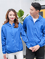 cheap -Men's Hoodie Jacket Hiking Skin Jacket Skin Coat Long Sleeve Sweatshirt Top Outdoor Lightweight Breathable Quick Dry Sweat-wicking Summer Solid Color Lake blue Sapphire Pink Hunting Fishing Climbing