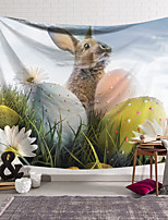 cheap -Happy Easter Wall Tapestry Art Decor Blanket Curtain Hanging Home Bedroom Living Room Decoration Polyester Rabbit Spring Bunny Egg