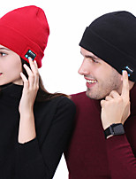 cheap -Men's Women's Hiking Cap 1 PCS Winter Outdoor Windproof Warm Soft Thick Skull Cap Beanie Solid Color Orlon Black Red Grey for Climbing Beach Camping / Hiking / Caving